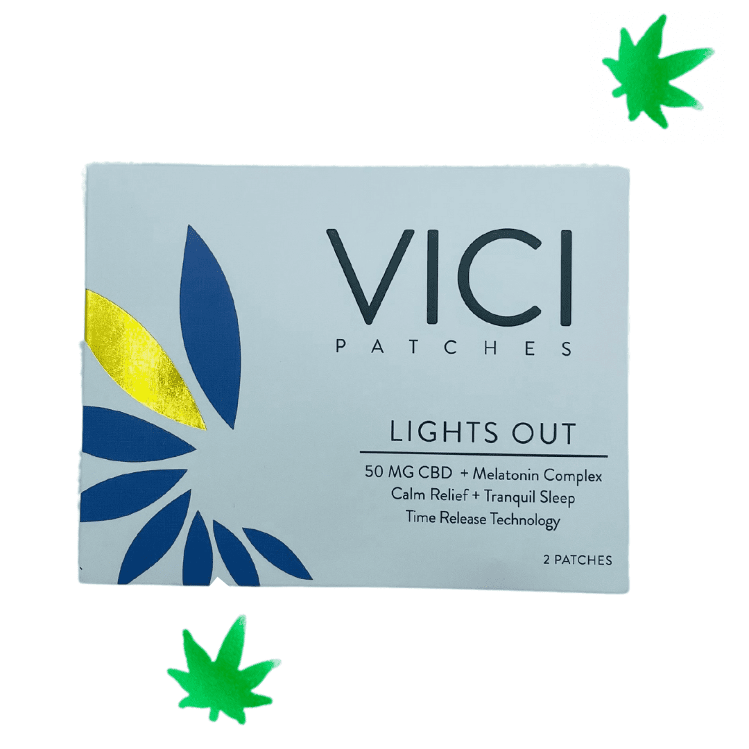 VICI Lights Out Patches - $15 | Ingredients 50mg CBD broad spectrum hemp extract, Melatonin