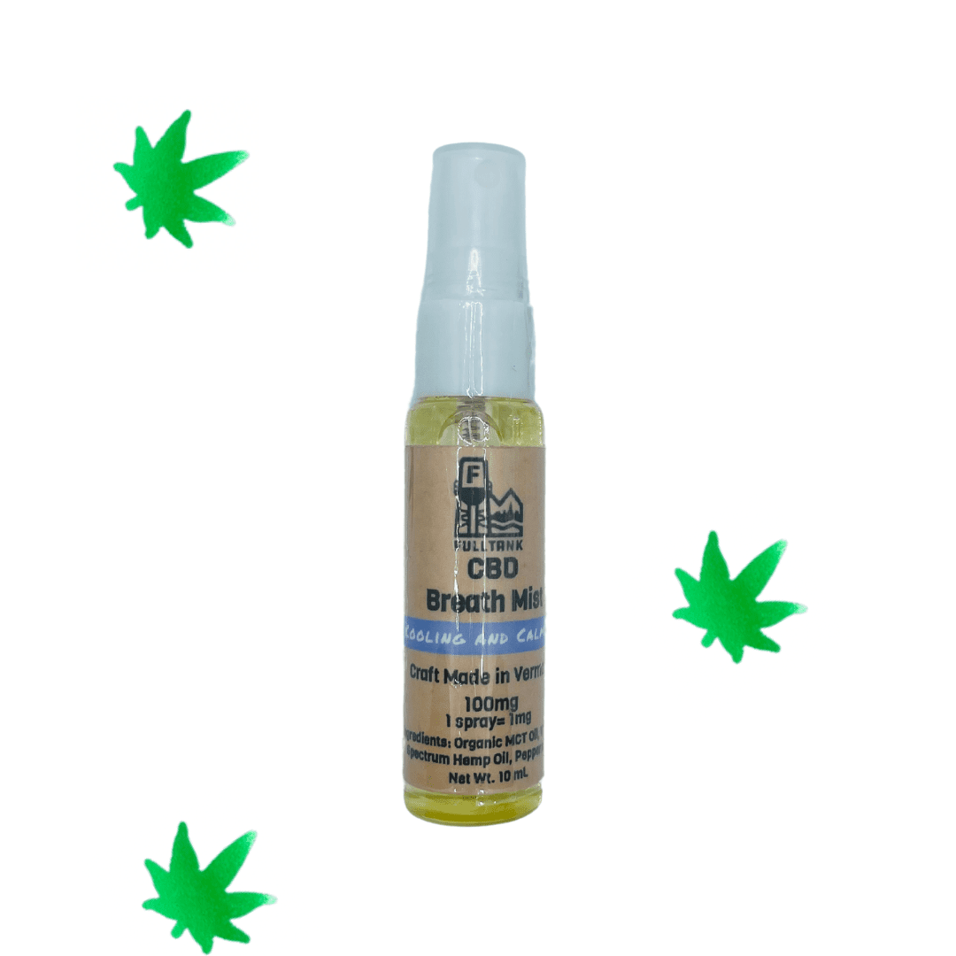 Full Tank CBD Breath Mist - $18 | Ingredients MCT oil, Full spectrum hemp extract, Peppermint essential oil